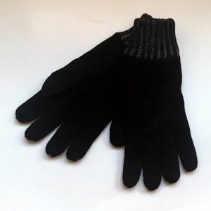 EXPRESS | Plaited Black Touch Screen Gloves